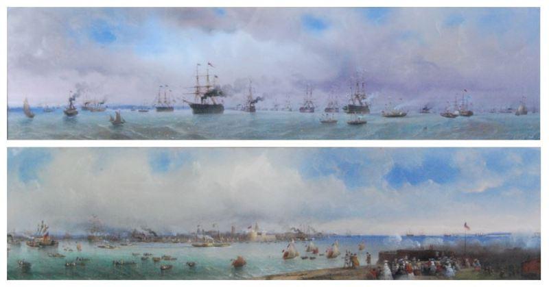 Carlo Bossoli maritime scenes