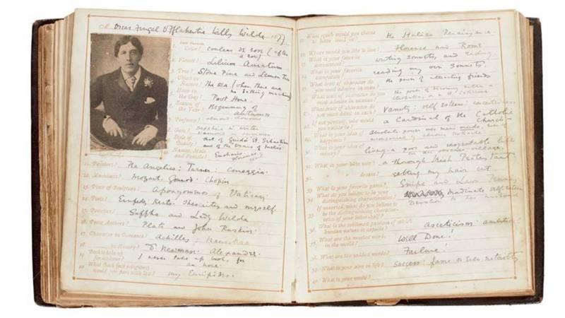 Oscar Wilde questionnaire