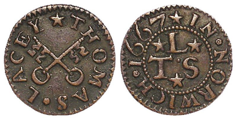 l7th-century token farthing