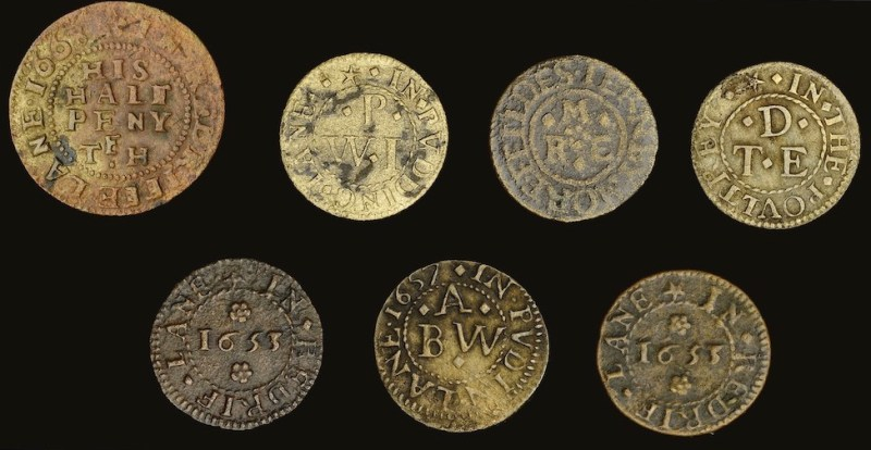 Collection of 17th-century trade tokens