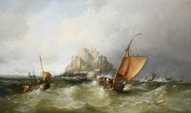 James Webb View of Mont Orgueil, Gorey Castle, Jersey