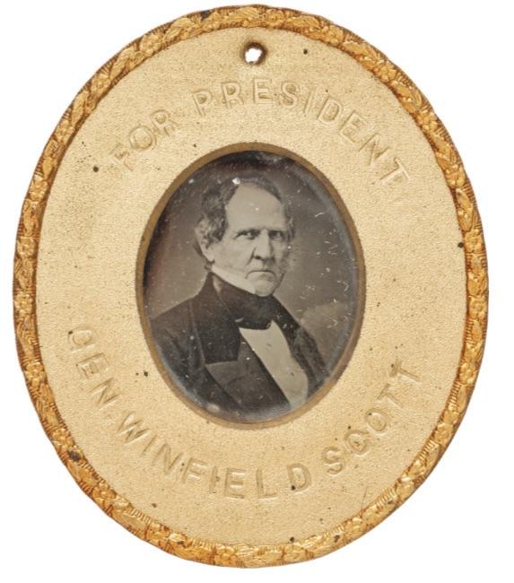 'Gen Winfield Scott for President' campaign badge