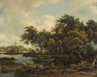 Meindert Hobbema's A wooded river landscape with a punt, Deventer in the distance (estimate: £500,000-800,000)