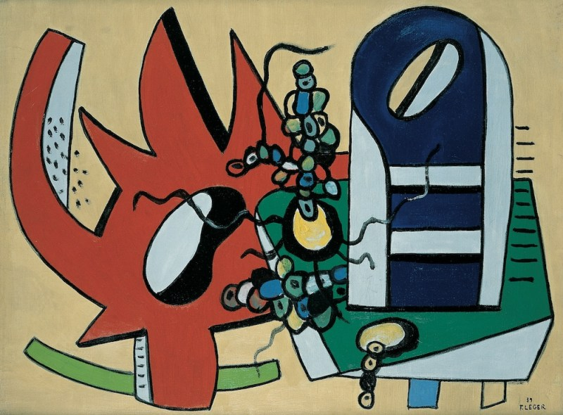 Fernand Léger, L'Engrenage Rouge (Nature morte en rouge et bleu) / The Red Gear (Still Life in Red and Blue), 1939, Oil on canvas, Pallant House Gallery, Chichester (Kearley Bequest, through The Art Fund, 1989) © ADAGP, Paris and DACS, London 2020