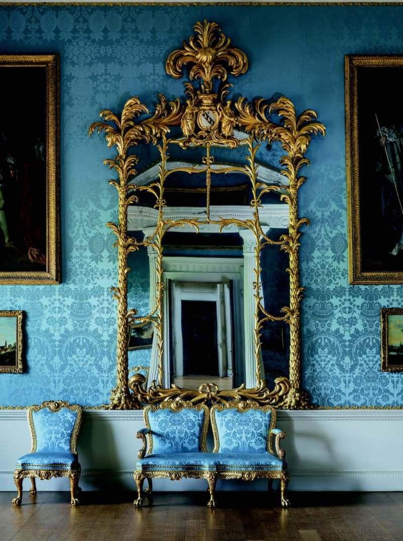 giltwood mirror at Kedleston Hall in Derbyshire