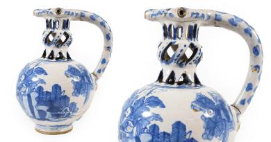 English Delft puzzle jug leads sale