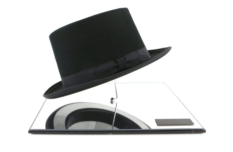 replica top hat as worn by Oddjob in James Bond film Goldfinger