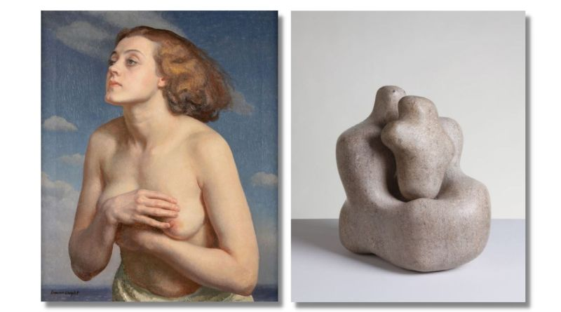 Artworks by Laura Knight and Barbara Hepworth