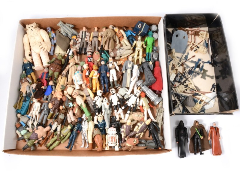 Collection of toy Star Wars figures