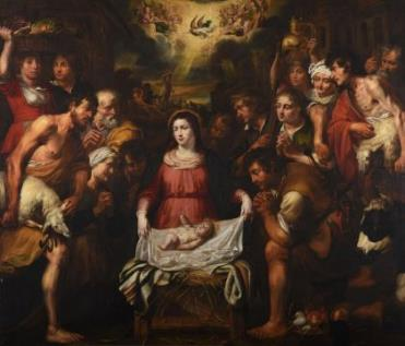 The Adoration of the Shepherds by Artus Wolfforts (1581-1641). Estimate £12,000-£18,000