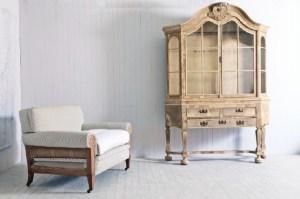 An antique Dutch cabinet