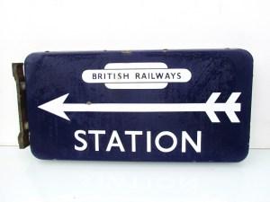 British Railways station sign