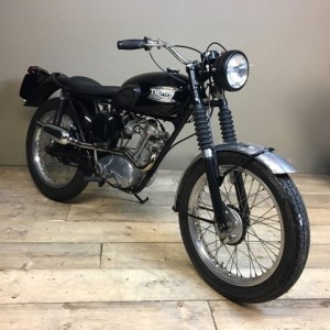 Classic triumph motorcycle