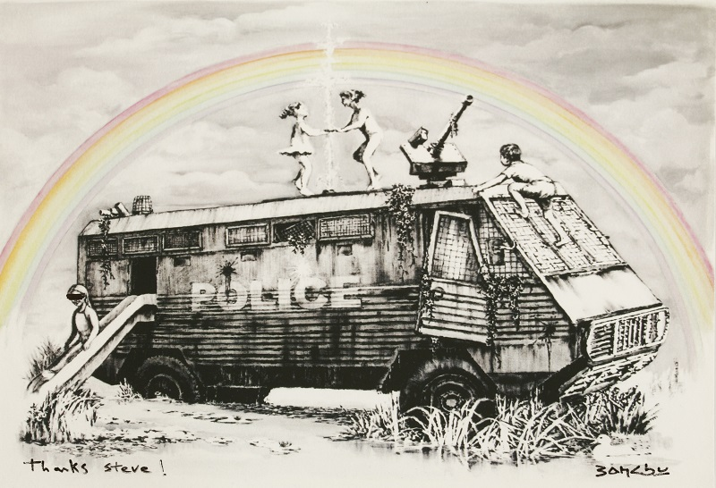 Banksy POLICE RIOT VAN