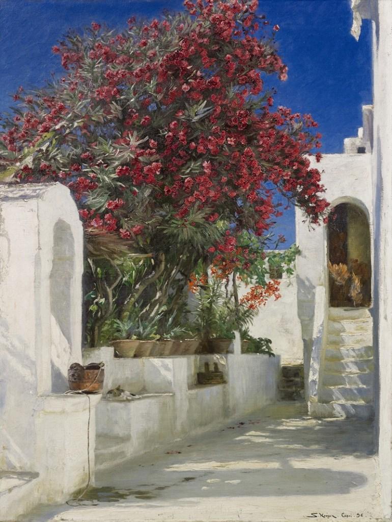 Krøyer, Oleanders in Bloom, Capri