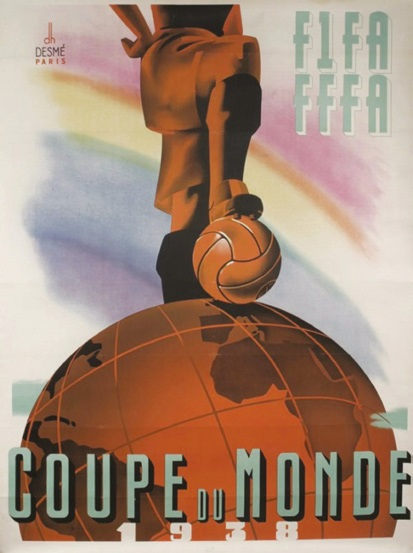 The 1938 World Cup poster