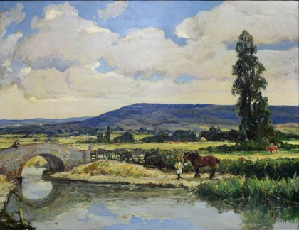 A large signed oil-on-canvas by Scottish artist Alexander Jamieson RA has been valued at between £800 and £1,200