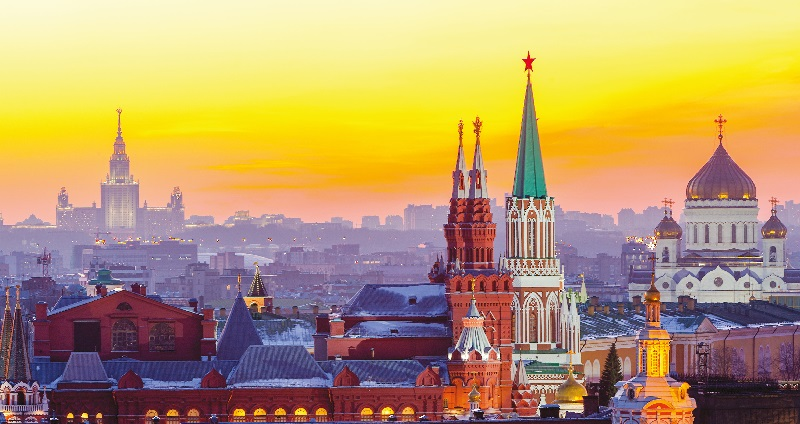 The Moscow skyline