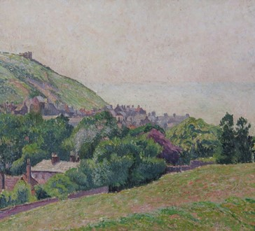 Lucien Pissarro landscape of Hastings