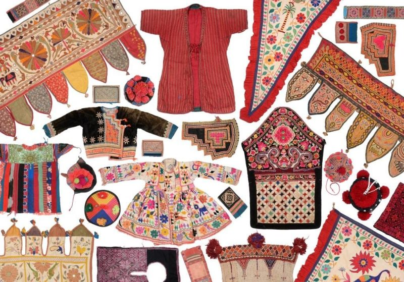 A collection of south east Asian textiles in the antique costume and textiles sale