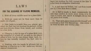 This antique football rulebook is the most expensive football memorabilia