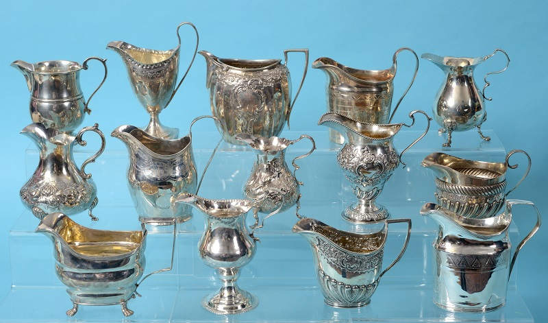 The antique silver collection in the sale