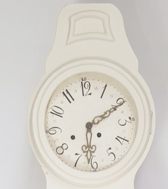 Clock face of a Swedish antique Mora clock