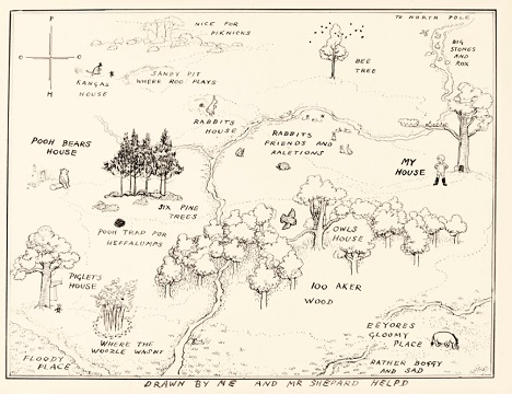 Winnie-the-Pooh Hundred Acre Wood Map sets Sotheby's record on 100 aker wood map, city map, drawing of a town map, gemini map, kingdom hearts 100-acre wood map, wooden story map, 100-acre wood rally map, 100-acre wood forest map, once upon a time map,