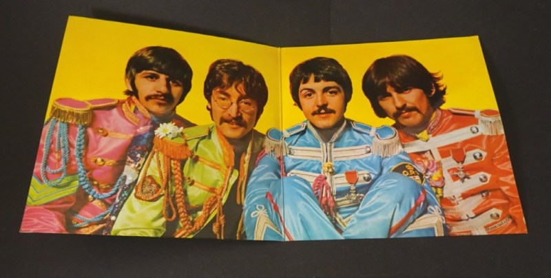 Vintage vinyl is in demand, like Beatles Sgt Pepper's album