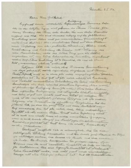 The Einstein God Letter in Christie's sale