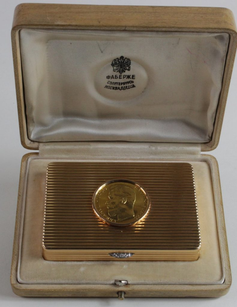 The Faberge gold table box that sold at Suffolk auction house Lockdales