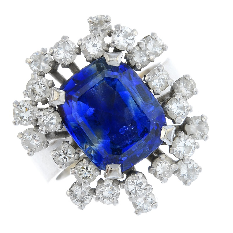 Grima jewellery in sale included this sapphire and diamond ring