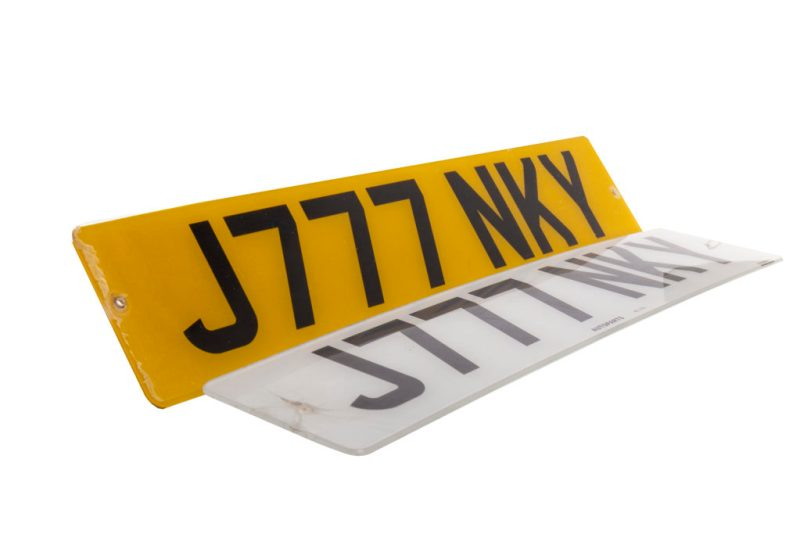Glasgow Football Club memorabilia - a Number plate once owned by Celtic legend Jimmy Johnstone