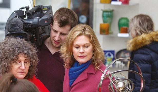 Filming a TV show about buying antiques