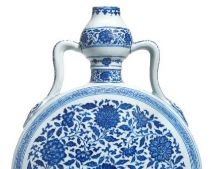 Blue and White moonflask in Christie's Asian Art sale