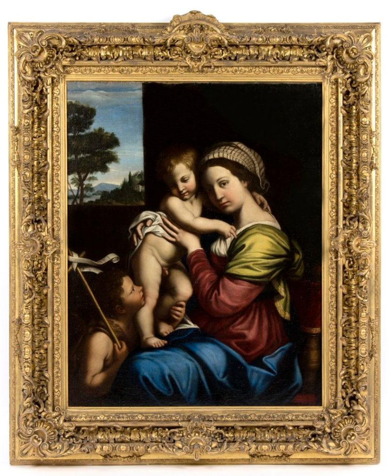 Madonna and Child with St John After Sassoferrato