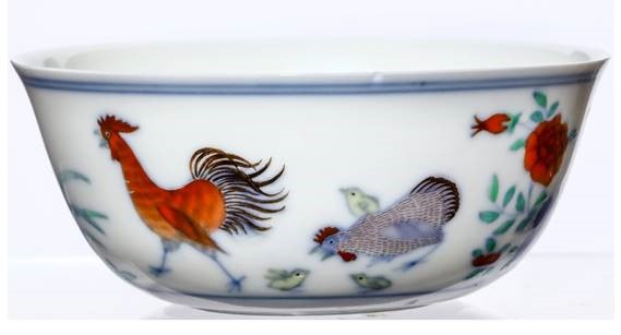 The Qing Imperial chicken cup in the sale