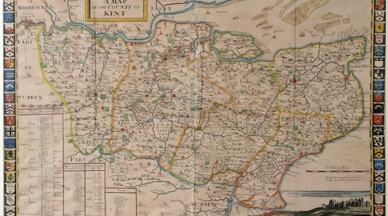 Antique map of Kent
