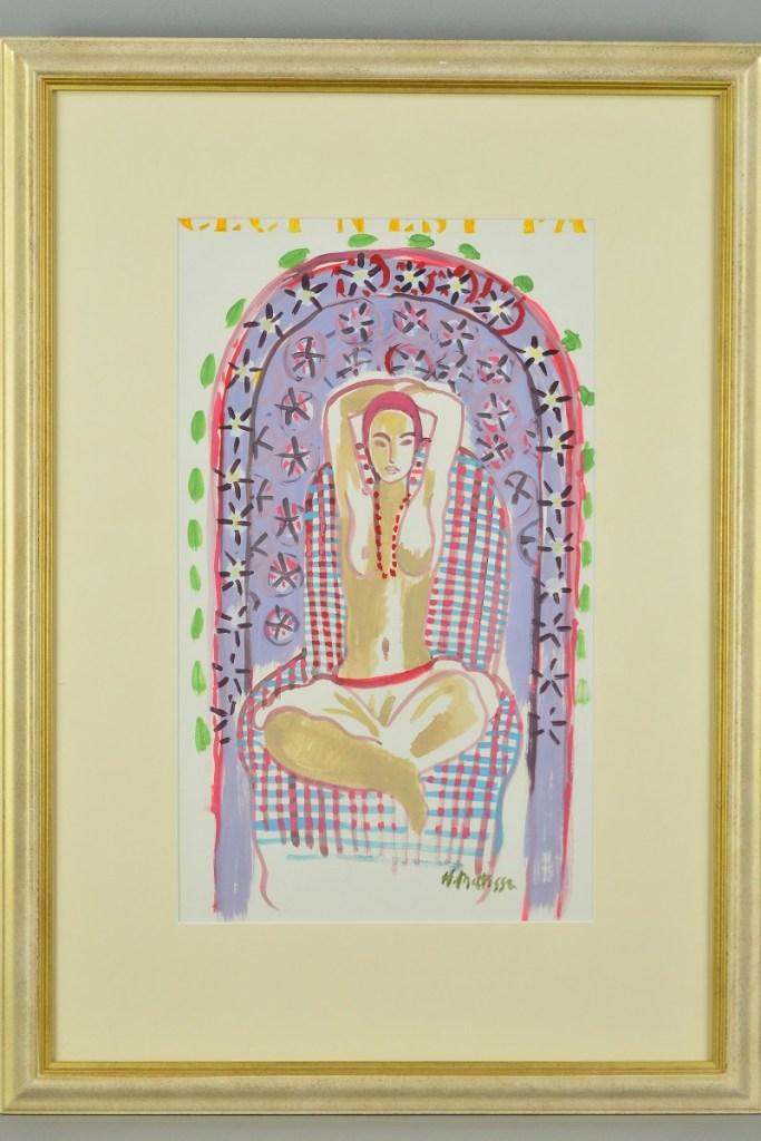 Henri Matisse's 'Algerian Nude', signed 'John Myatt Genuine Fakes'