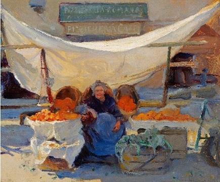 The Oange Seller by Philip deLászló