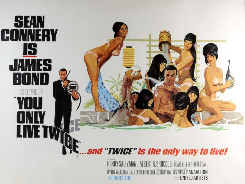A poster advertising the 1967 film You Only Live Twice carries an estimate of between £1,000 and £1,500