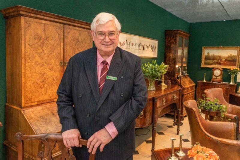 David Harvey of W. R. Harvey & Co at CADA Fair at Blenheim Palace