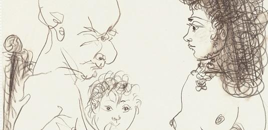 Pablo Picasso, Homme, femme et enfant (1966)