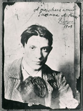 A photograph of young Picasso