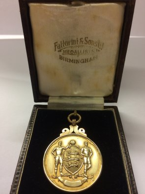 West Bromwich Albion goalkeeper Norman Heath's FA Cup medal from 1954