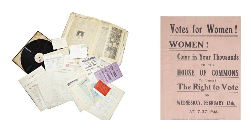 The Suffragette collection due to sell in Surrey
