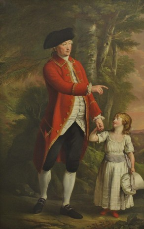 Portrait of the 4th Duke of Bedford with the Marquess of Blandford by Hugh Douglas Hamilton