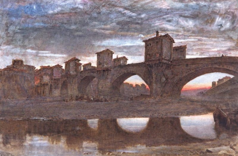 A water colour painting of a bridge