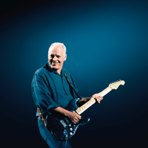 David Gilmour playing 'The Black Strat' for the  'Live At Abbey Road' series, 29th August 2006.