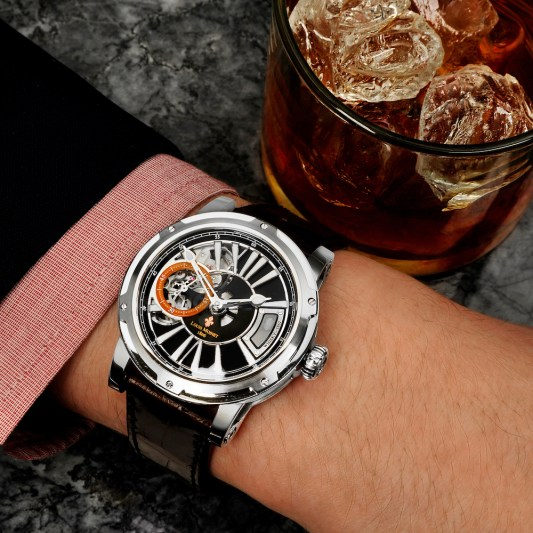 A watch containing the world's oldest whisky